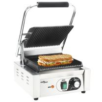 Panini grill gegroefd 1800 W 32x41x19 cm roestvrij staal