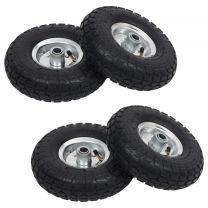 Steekwagenwielen 4,10/3,50-4 (260x83) rubber 4 st