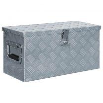 Doos 61,5x26,5x30 cm aluminium zilverkleurig