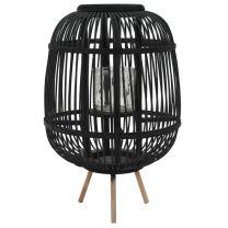 Lantaarnhouder vrijstaand bamboe zwart