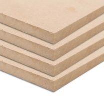MDF platen rechthoekig 120x60 cm 12 mm 4 st