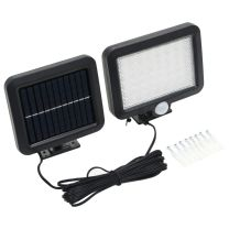 Solarlamp met bewegingssensor LED-lichten wit