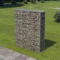 Schanskorf muur met deksels 80x20x100 cm gegalvaniseerd staal