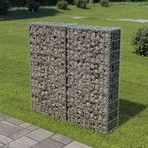 Schanskorf muur met deksels 100x20x100 cm gegalvaniseerd staal
