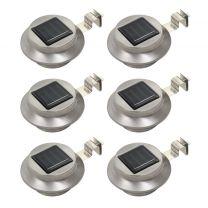 LED-solarlampen rond 12 cm wit 6 st