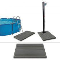 Vloerelement voor solardouche of zwembadladder HKC
