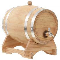 Wijnvat met kraantje 6 L massief grenenhout