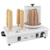 Hotdog verwarmer met 4 staven 550 W roestvrij staal