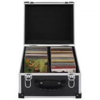 Cd-koffer voor 40 cd's aluminium ABS zwart