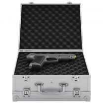 Wapenkoffer aluminium ABS zilverkleurig
