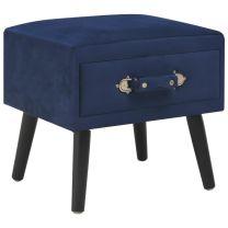 Nachtkastje 40x35x40 cm fluweel blauw