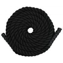Battle rope 9 m polyester zwart