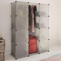 Kast met 9 compartimenten modulair 37x115x150 cm wit