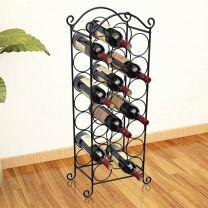 Wijnrek voor 21 flessen metaal