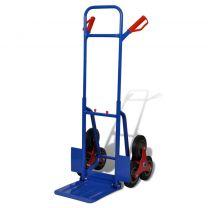 Steekwagen met 6 wielen en 150 kg draagvermogen blauw/rood