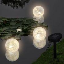 Drijvende bollampen op zonne-energie LED 3 stuks voor vijver / zwembad