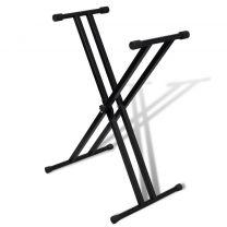 Verstelbare keyboardstandaard dubbel X-frame