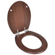 Toiletbril soft-close simpel ontwerp MDF bruin