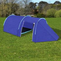 Tent voor 4 personen marineblauw/lichtblauw