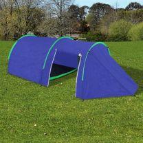 Tent voor 4 personen marineblauw / groen