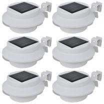 Solar buitenlampset 6 stuks wit