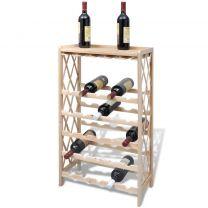 Wijnrek voor 25 flessen hout