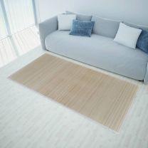 Rechthoekige bamboe mat 150 x 200 cm (Neutraal)