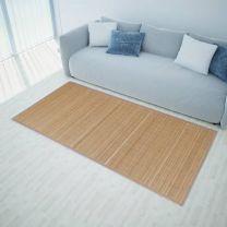 Rechthoekige bamboe mat 80 x 200 cm (Bruin)