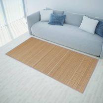 Bamboemat rechthoekig 120 x 180 cm (bruin)