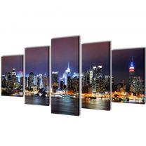 Canvasdoeken kleurrijke New York skyline 100 x 50 cm
