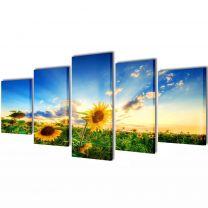 Canvasdoeken zonnebloem 100 x 50 cm
