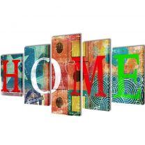 Canvasdoeken kleurrijk huis 200 x 100 cm