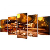 Canvasdoeken whiskey en sigaar (100 x 50 cm)