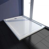 Douchebak rechthoekig ABS wit 80 x 110 cm
