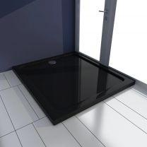 Douchebak rechthoekig ABS zwart 80 x 90 cm