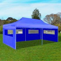 Partytent pop-up 3x6 m blauw