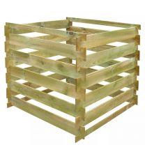 Compostbak gelat vierkant 0,54 m hout