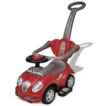 Loopauto met duwstang rood