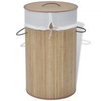 bamboe wasmand rond natuurlijk