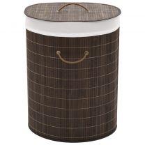Wasmand ovaal bamboe donkerbruin