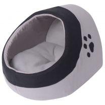 Kattenkussen grijs en zwart M