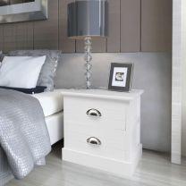 Nachtkastje Franse stijl wit