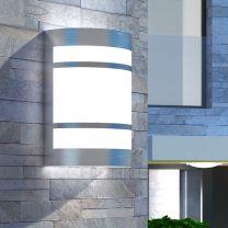 Wandlamp voor buiten licht roestvrij staal