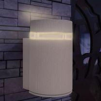 Wandlamp voor buiten halfrond grijs aluminium