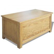 Opbergkist eikenhout 90x45x45 cm