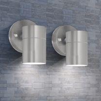 Wandlamp buiten op-/neerwaarts RVS 2 st