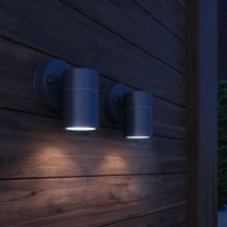 Wandlamp buiten neerwaarts RVS 2 st