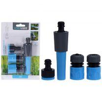 Tuinsproeier Set 4-delig Blauw/Zwart