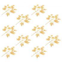Kunstbladeren esdoorn 10 st 75 cm goud