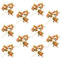 Kunstbladeren druif 10 st 70 cm rood